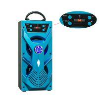 Musiccrown木质蓝牙音箱 创意旋钮广场舞音响 10W插卡户外手提音箱