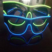 新款el发光眼镜 USB充电一体式镜框 酒吧派对演唱会新品眼镜