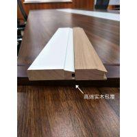 南京免漆拼框门pp-009s实木包覆线条-二代物理优化不变形不开裂含水率低至9%回字门边框-无台面