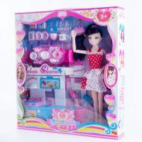 3D真眼12关节 换装洋娃娃礼盒套装 女孩公仔玩偶 过家家厨房玩具