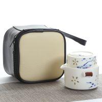 陶瓷功夫茶具茶杯便携旅行茶具随手杯办公单人一壶一杯日式快客杯