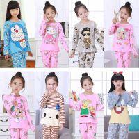 JSH小孩女童睡衣套装可爱十岁纯棉春秋季长袖薄款公主女孩sy儿童