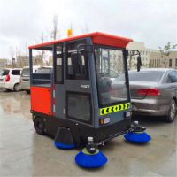 大型全封闭智能款纯电动驾驶式扫地机南通洁诚扫地车厂家批发直销