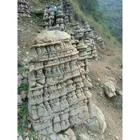 塑石假山制作景观石批发千层石虎劈石青石护岸石墩子石龟纹石