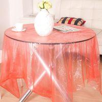 【加大加厚】一次性纺丝台布 餐桌防水防油污PE桌布 10片装