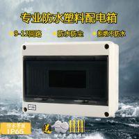户外HT-12回路防水塑料配电箱明装防雨空开盒家用室外防水开关盒IP66