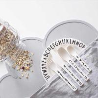厂家直销INS儿童字母刀叉勺四件套宝宝练习餐具亚马逊速卖通ebay