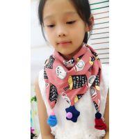 广州童装批发 精品高档儿童纯棉围巾 时尚百搭围巾 款式多样 特价9.9元走份批发