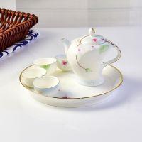 亿美骨瓷厂家批发陶瓷茶具套装 创意手绘一壶四杯高级礼品定制