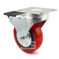 大世脚轮批发 多尺寸双轴承TPU弹簧减震轮 牵引车大门咕噜 减震轮子 低噪音