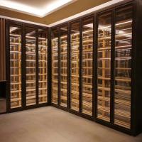 不锈钢酒柜酒架家居装饰定制 新中式时尚简约黑钛拉丝无指纹酒柜