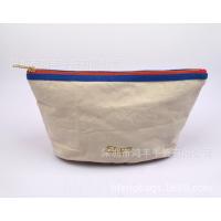 厂家定制帆布化妆包 旅行丝印logo收纳包 麻料环保棉布袋现货批发