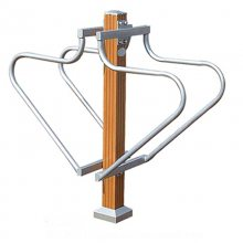 JY-397塑木单柱双杠多少钱 公园设施 老人体育器材