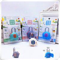 韩版儿童卡通小象旅行箱密码锁学生宿舍小锁头箱包锁挂柜子锁批发