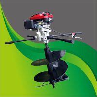 驰航大功率螺旋地钻机 两冲程手提植树机 葡萄园栽桩打眼机厂家