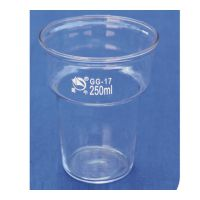 250 400ml 染色烧杯 厚壁玻璃烧杯 实验室玻璃器皿