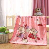 卡通婴童抱毯毛毯儿童小毛毯宝宝婴儿云毯冬季加厚双层批发