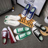 春韩版学生布鞋平底ulzzang低帮帆布鞋女平跟百搭原宿风白色板鞋