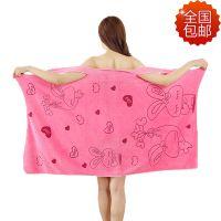 包邮 珊瑚绒可穿浴巾女性感吸水旅行速干浴巾男士加大柔软大毛巾
