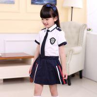 新款幼儿园园服夏装英伦修身儿童校服套装小学生班服短袖合唱服
