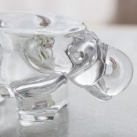 现代简约客厅餐厅家居摆件米娜透明玻璃烛台摆件