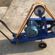 湖北手推式焊缝打磨机 安源电动砂带机 350mm手推式砂轮机