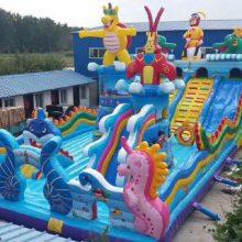 黑龙江充气蹦床城堡 室外充气滑梯订制