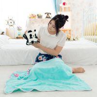 狗年吉祥物卡通动物毛毯 珊瑚绒毯子 折叠卷空调毯 礼品家居用品
