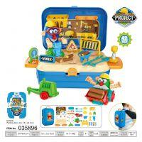 厂家直销工程彩泥背包箱套装 儿童早教益智过家家亲子互动玩具