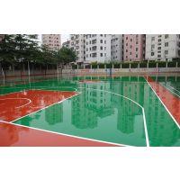 来宾学校 单位篮球场建设——环保的塑胶硅PU球场材料 康奇体育