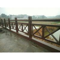山东东平县新起点仿木水泥X型1.8米护栏