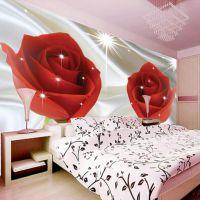 3d立体玫瑰花卉无缝大型壁画客厅电视背景墙壁纸卧室床头影视墙布