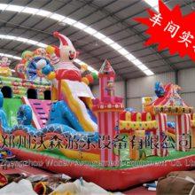 福建泉州庙会新款摩天轮充气蹦蹦床对比其他充气大滑梯高下立见