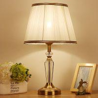 蒂孚尼 水晶台灯现代简约欧式美式台灯卧室床头台灯酒店台灯