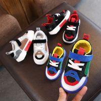 童鞋2018年秋季新款 儿童休闲鞋男女童时尚拼色运动板鞋