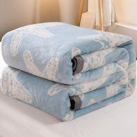 珊瑚绒小毛毯被子加厚空调毯夏季办公室午睡盖毯单人薄法兰绒毯子