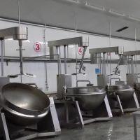 定制夹层锅现货商用燃气加热夹层锅自动搅拌炒锅