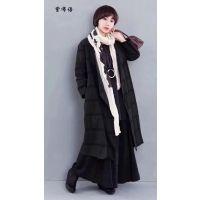 北京原创设计师品牌 紫布语 棉麻系列大码女装走份批发