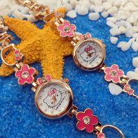 工厂直销hello kitty凯蒂猫kt猫镶钻手链女生女孩卡通儿童手表