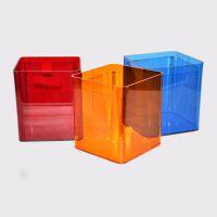红色亚克力仿尘盒 热弯弧面机器模型保护罩 3d模型遮光罩