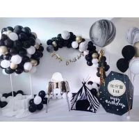 洛阳宝宝周岁生日气球布置 洛阳宝宝生日气球装饰