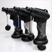 MF252小喷枪可锁定大火力充气体直冲金属打火机户外工具点焊火机