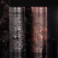 八骏图锌合金真空保温杯紫砂杯陶瓷杯高端商务礼品办公杯激光定制