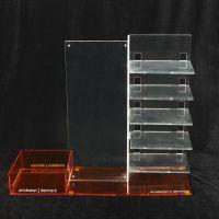 厂家定制亚克力展示架 品质款透明咖色亚克力眼镜展示架 饰品展架