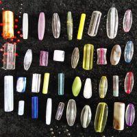 厂价直销亚克力饰品配件管子珠长方形透明仿琥珀长管珠桶子珠长珠