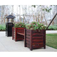 厂家供应HUX026实木景观花防腐木花箱塑木花箱玻璃钢花箱