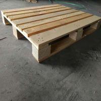 800*1200木制木托盘青岛 松木卡板四面进叉川字型九脚可上货架