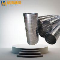 工业废气处理设备用热镀锌螺旋风管,螺旋风管配套性好