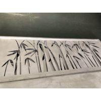 厂家供应丽江酒店雕花竹叶铝窗花 雕刻铝合金花窗效果图