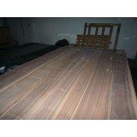 厂家直供黑胡桃直纹木皮 贴密度板门板免漆木饰面板木皮
